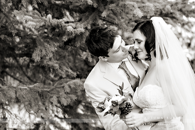 keystone colorado mountain wedding ski tip lodge emotional first look bride groom
