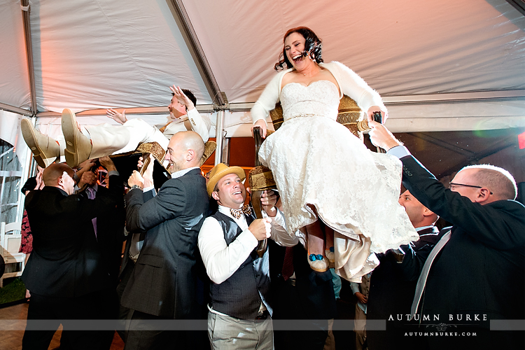keystone colorado mountain wedding ski tip lodge reception dance hora