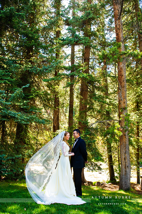 vail colorado mountain wedding first look bride and groom four seasons vail chapel