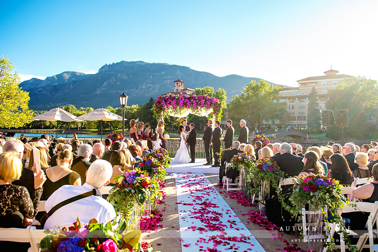 wedding ceremony the broadmoor colorado springs bride and groom