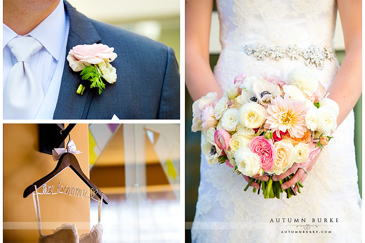 wedding details dress bouquet seawell ballroom dcpa denver colorado