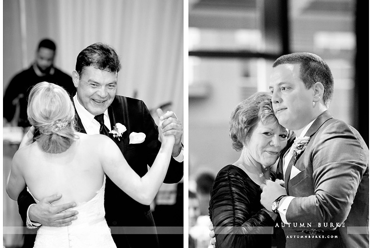 wedding reception seawell ballroom dcpa denver colorado father daughter dance mother son