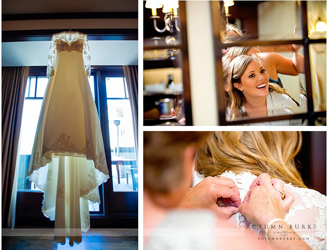 bridal getting ready dress four seasons vail wedding