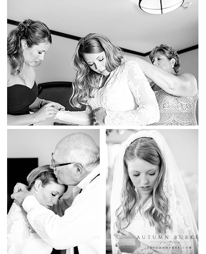 bridal prep dress four seasons vail wedding bw