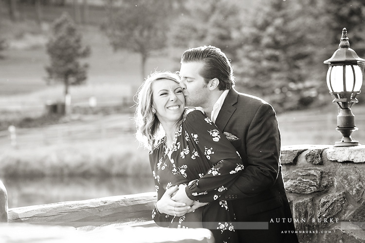 colorado engagement session bride and groom laughter
