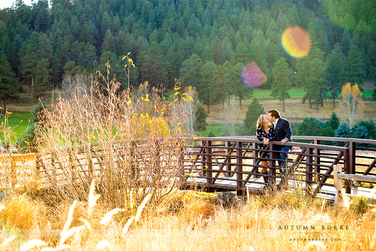 colorado portrait wedding engagement session evergreen lake mountains autumn