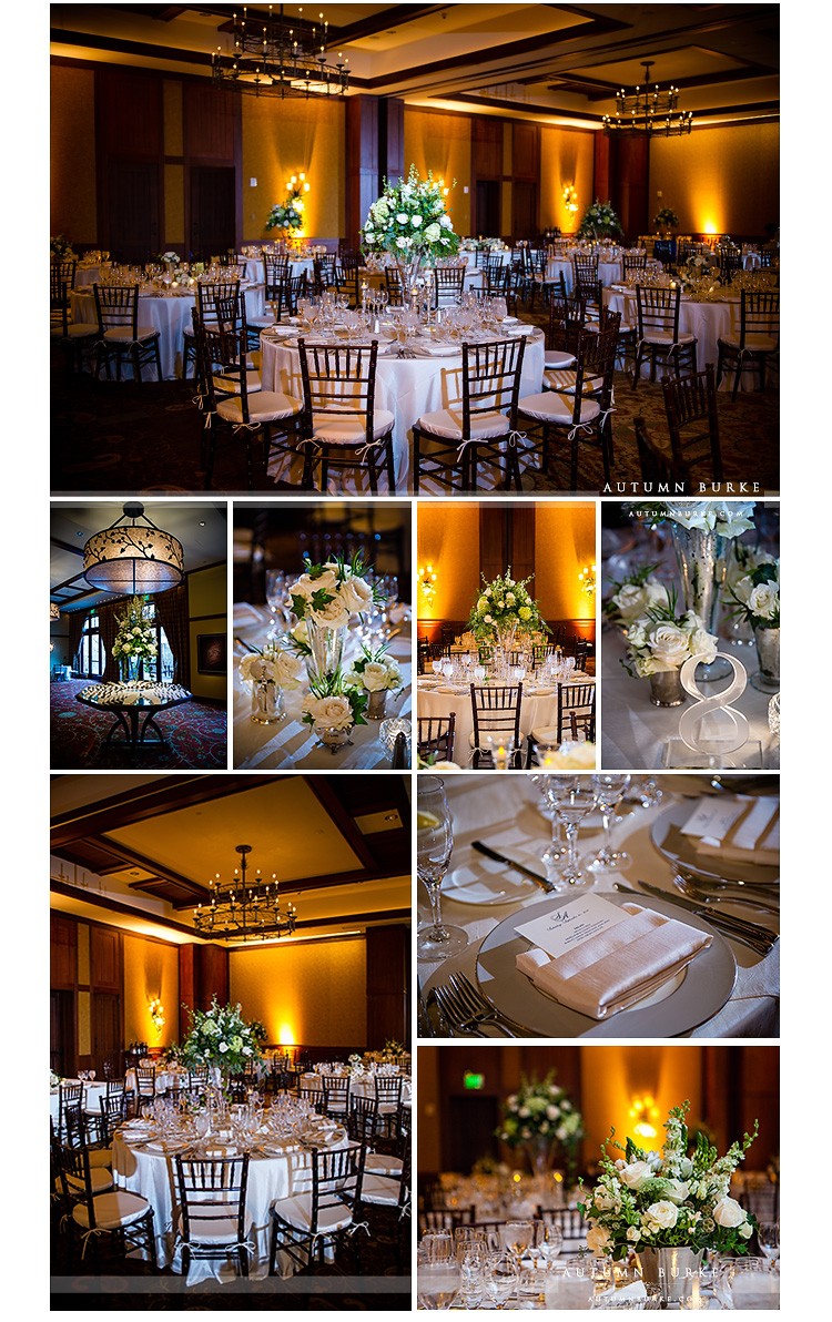 four seasons vail wedding details and decor ballroom romantic elegant