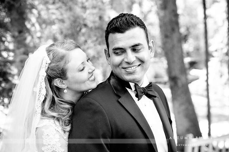 vail chapel wedding colorado mountains four seasons bride and groom first look