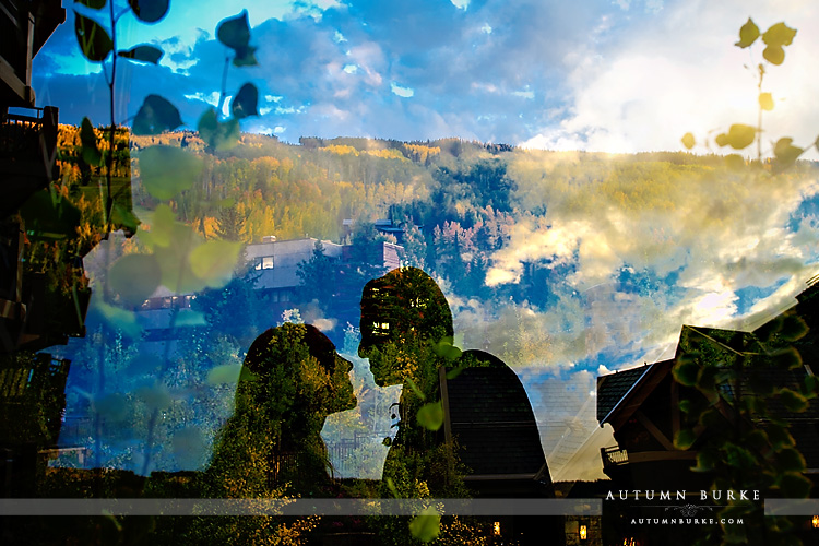 vail wedding four seasons colorado mountain wedding artistic silhouette