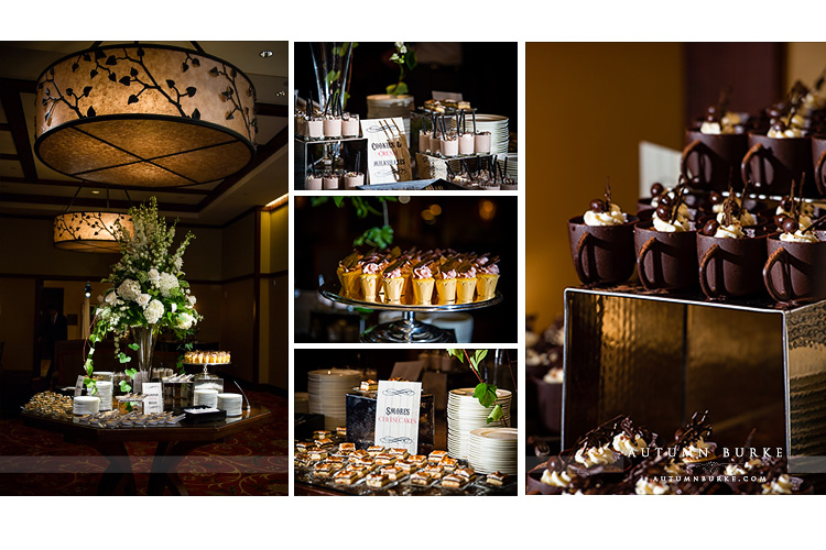 vail wedding four seasons colorado mountain wedding reception dessert bar