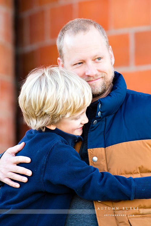 sweet family portrait childrens photographer highlands ranch colorado dad and boy