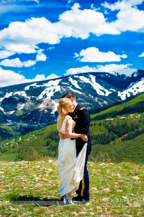 beaver creek mountain wedding colorado westin riverfront bride and groom