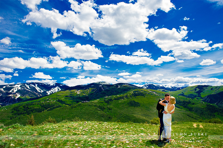 beaver creek colorado mountain wedding first look bride and groom westin riverfront