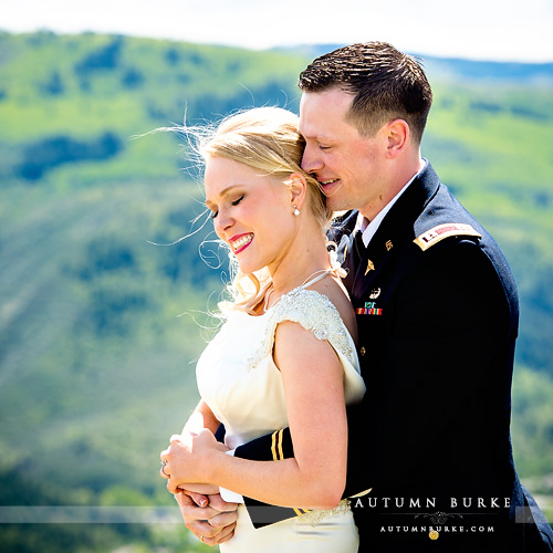 colorado mountain wedding beaver creek westin bride and groom