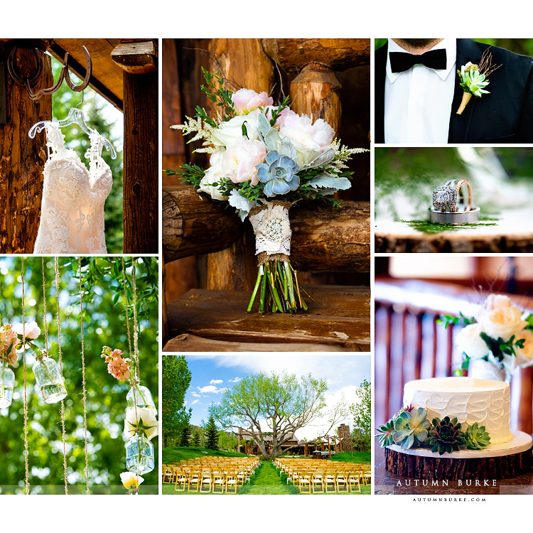 spruce mountain ranch wedding details bouquet graces chapel ceremony rustic elegance succulents colorado
