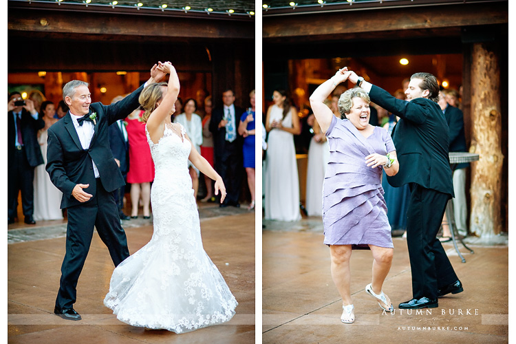 spruce mountain ranch wedding parent dances mother son father daughter courtyard