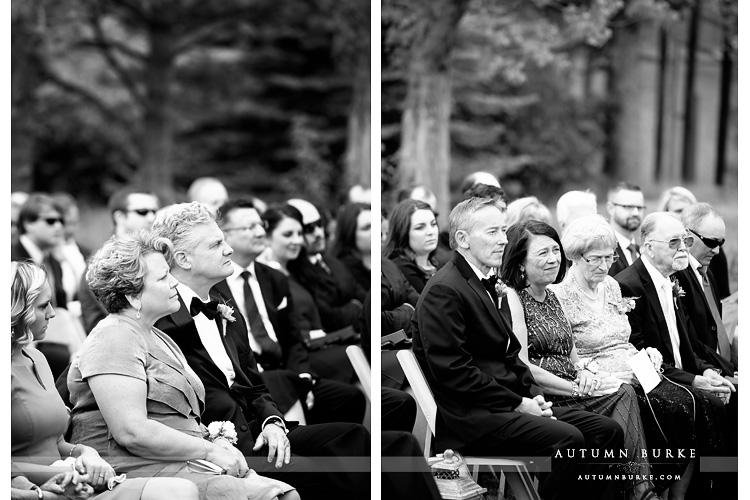 spruce mountain ranch wedding parents during ceremony vows