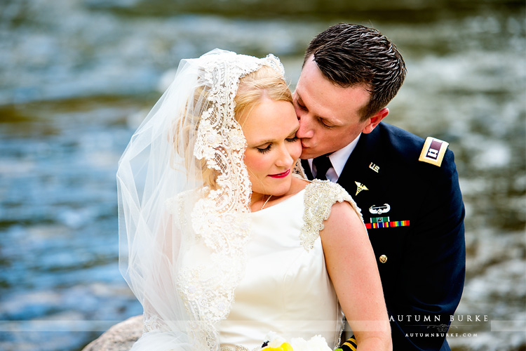 westin riverfront wedding beaver creek colorado mountain bride and groom
