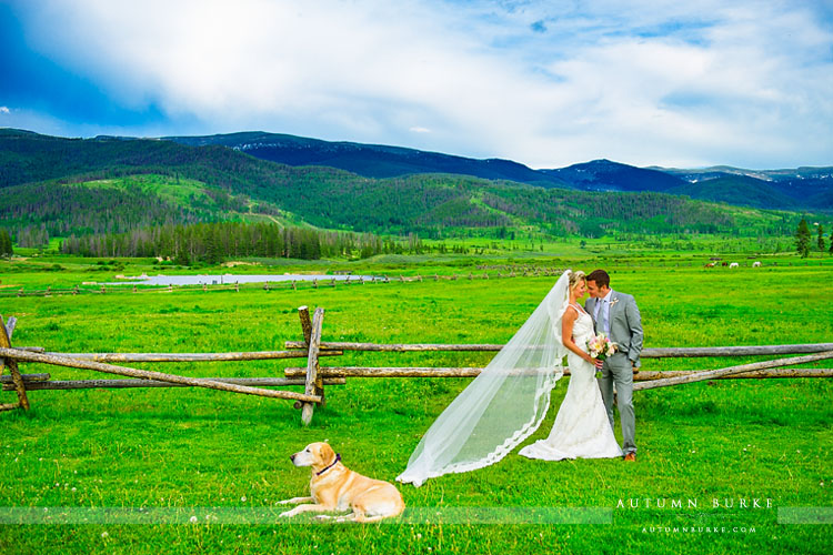 devils thumb ranch colorado wedding tabernash mountains dog