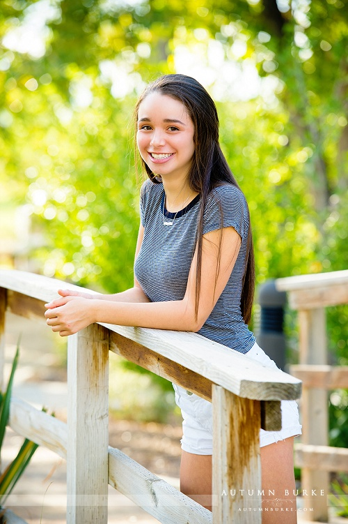 denver colorado high school senior portrait session outdoors bridge