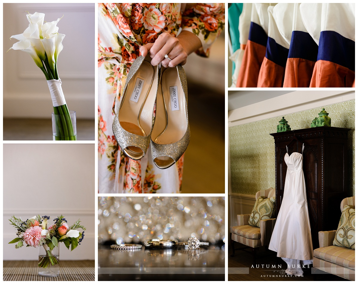 country club denver colorado wedding details bouquet shoes dress rings