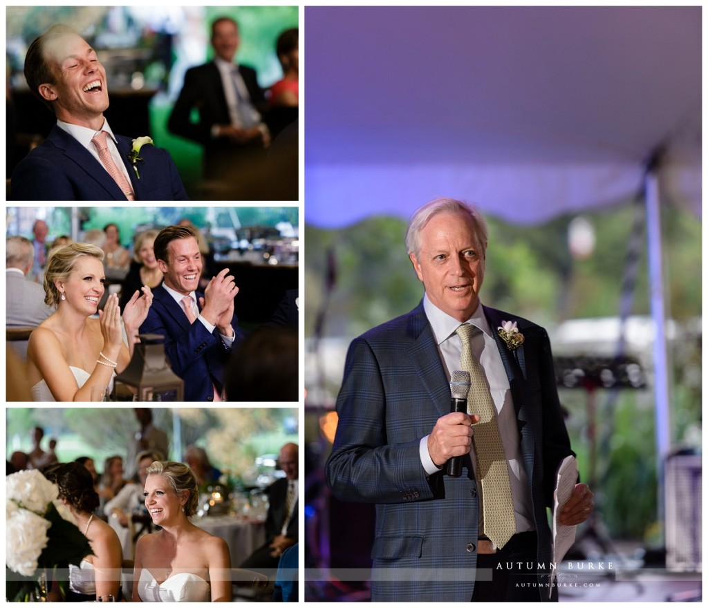 father of the bride wedding toasts denver colorado country club reception