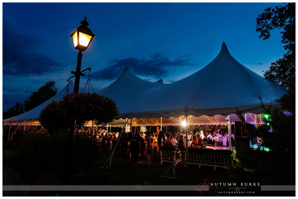 denver colorado country club wedding tent night sky sunset silhouette