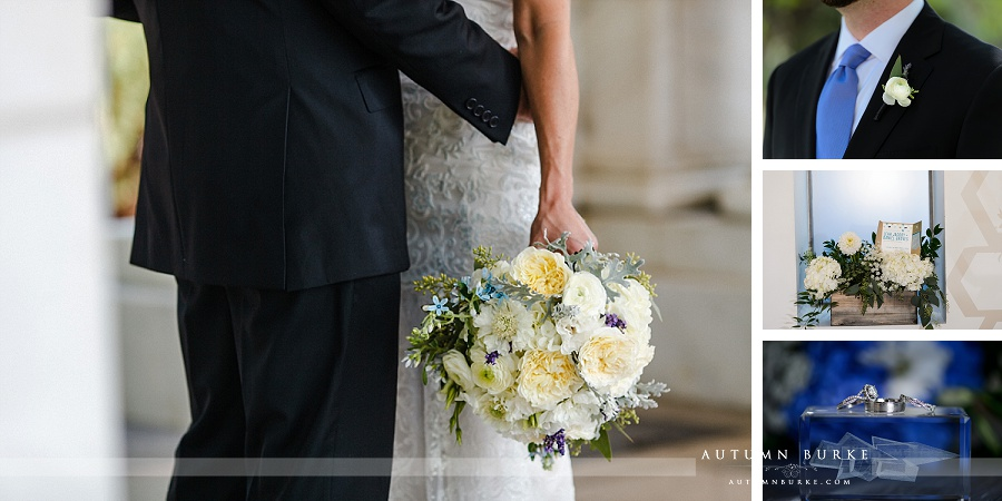 denver art museum wedding details bouquet rings boutonniere colorado