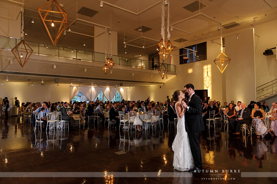 denver art museum wedding bride and groom first dance colorado