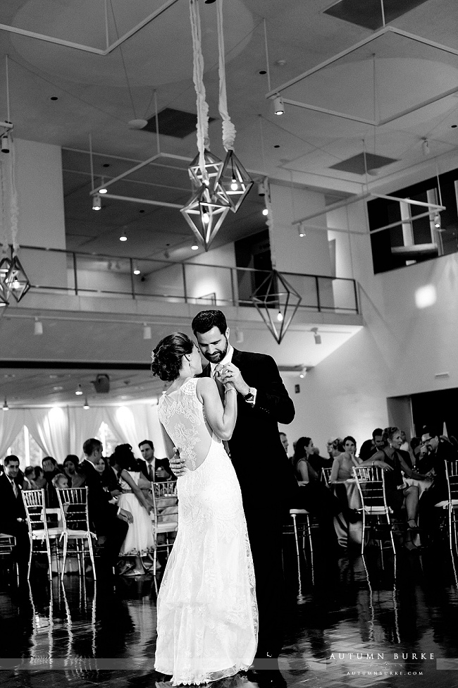 denver colorado art museum wedding first dance bride and groom designworks decor