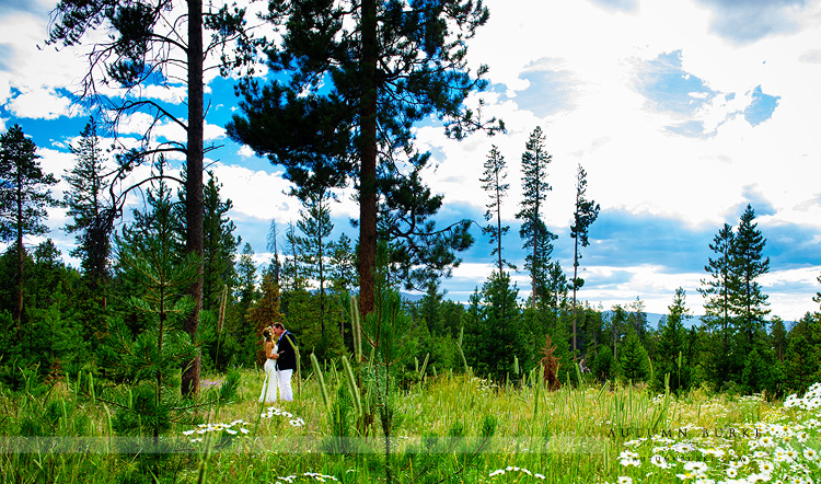 first look wild horse inn colorado mountain wedding tabernash winter park wildflowers