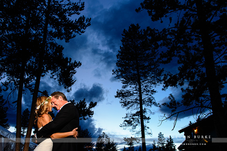 wild horse inn colorado wedding winter park mountain bride groom night sky