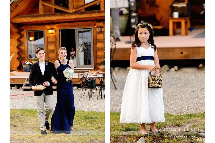 wild horse inn winter park wedding ceremony flower girl wedding party best man maid of honor