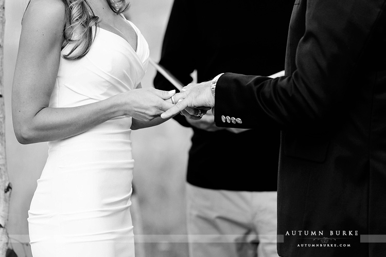 wild horse inn winter park colorado mountain wedding ceremony jewish chuppahrings bride and groom