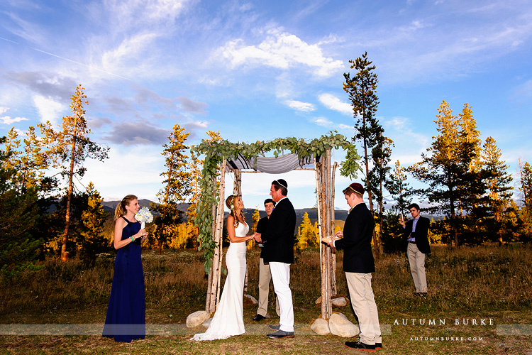 wild horse inn winter park wedding ceremony vows bride and groom