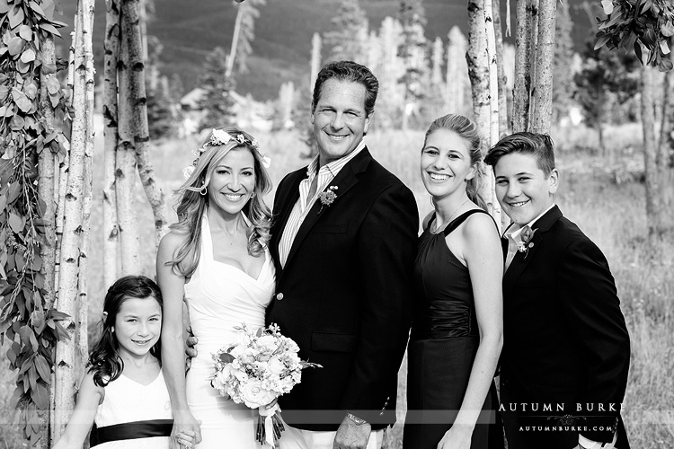 wild horse inn winter park wedding family portrait bride and groom