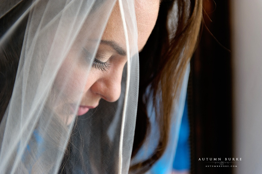 denver colorado chatfield botanic gardens wedding bride portrait veil
