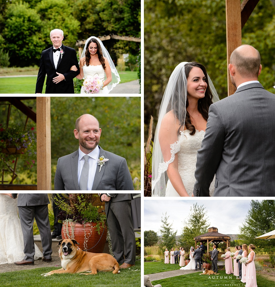 denver botanic gardens at chatfield colorado wedding outdoors rustic elegant gazebo prairie wedding ceremony with dog