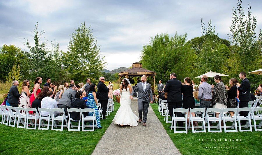 just married chatfield botanic gardens wedding colorado ceremony