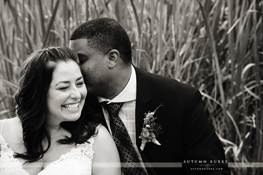 denver colorado bride and groom b&w wedding