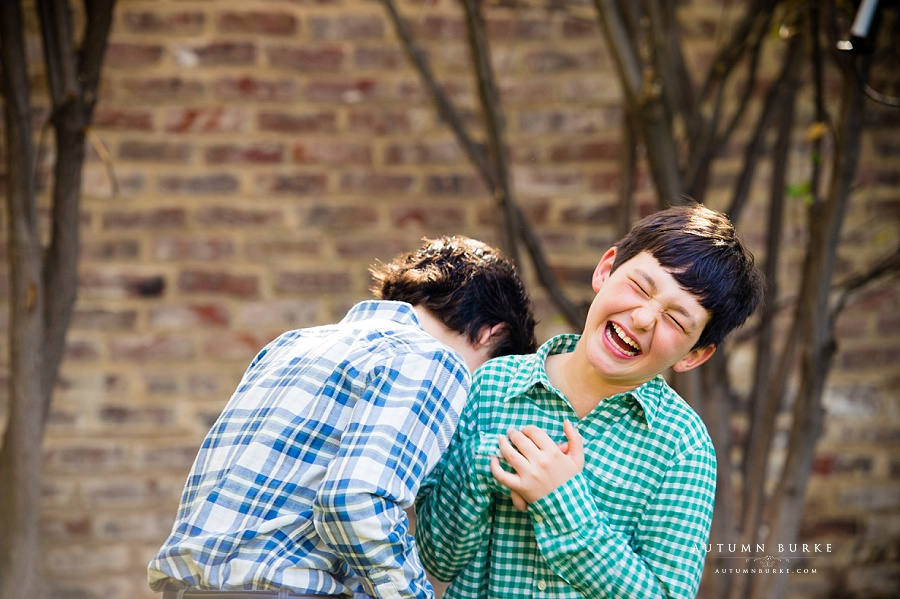 colorado family portraits denver lifestyle session boys brothers laughing