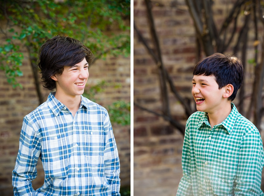 denver colorado kids portraits boys brothers laughter