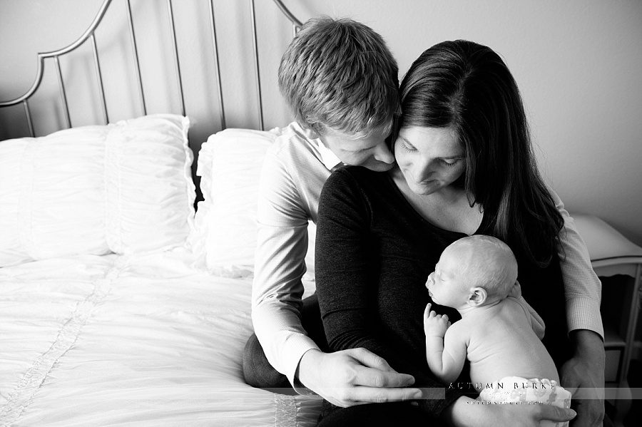 denver colorado family photography lifestyle portrait newborn baby black and white