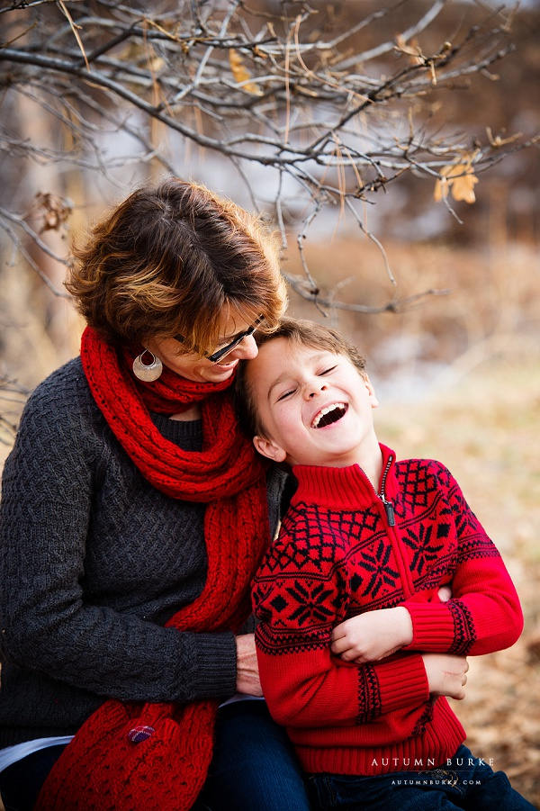 colorado family portrait mother son sweet holiday portrait love laughter denver lifestyle photography