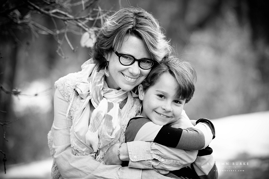 adorable mother son portrait colorado family childrens photography black and white