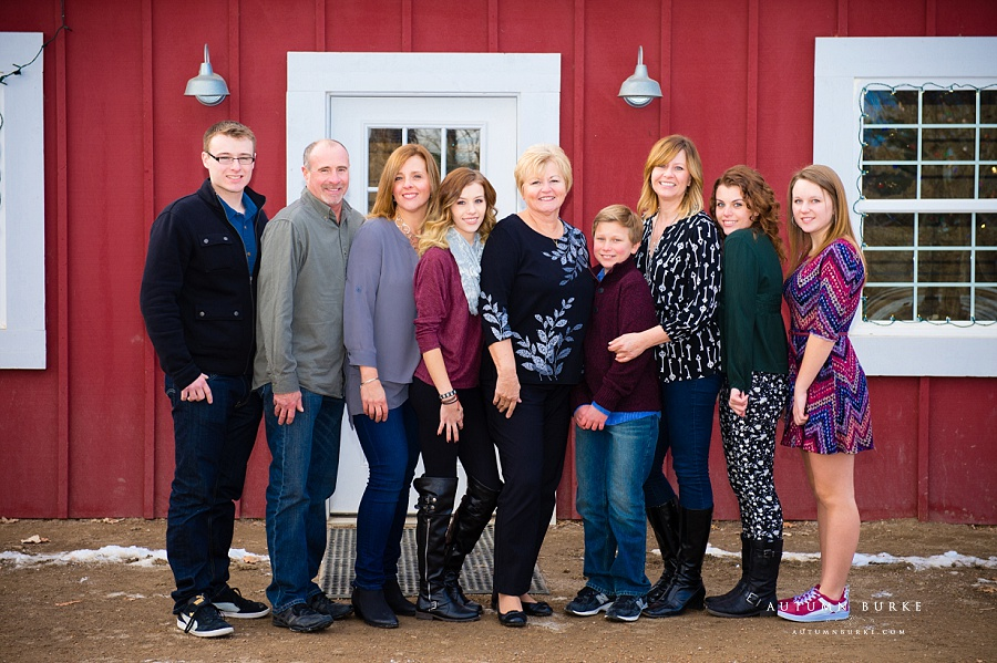 colorado extended family holiday portrait session