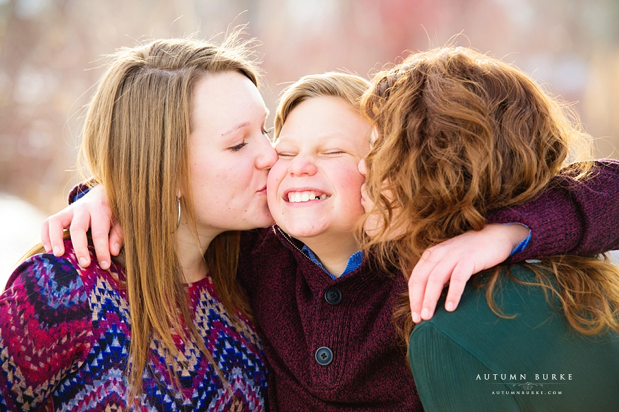 colorado family portrait winter holiday snow photography session