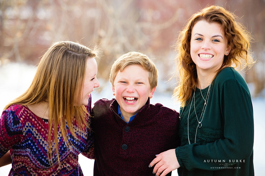 colorado family portrait session siblings laughter joy brother and sisters