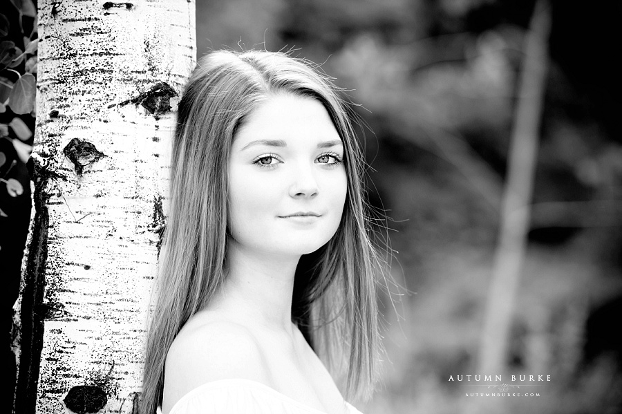 colorado high school senior portrait session vail mountain photography