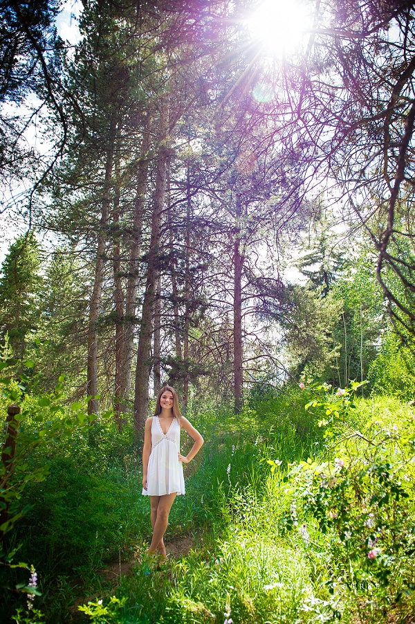 vail colorado high school senior portrait mountains